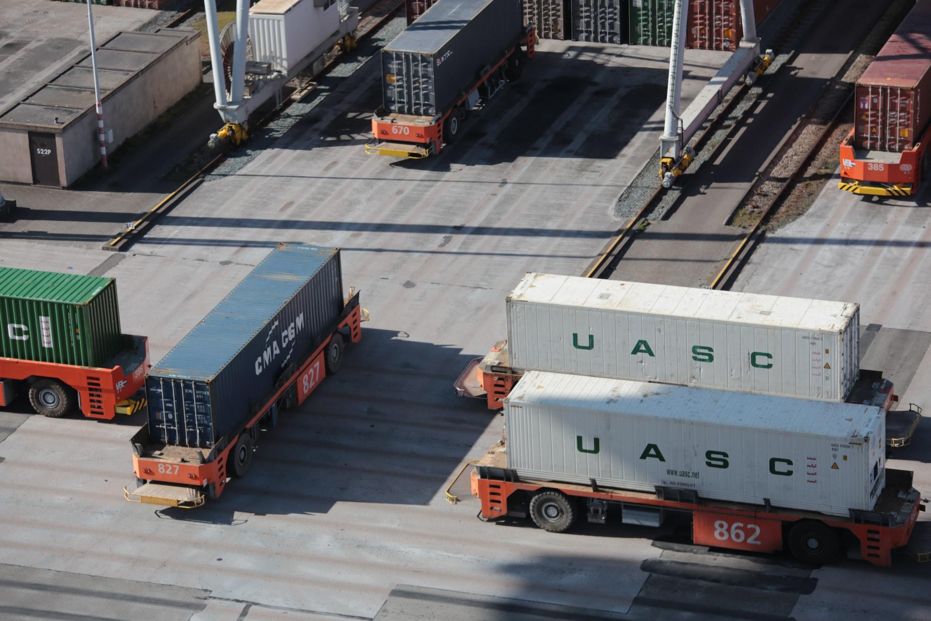 huge cargo trucks